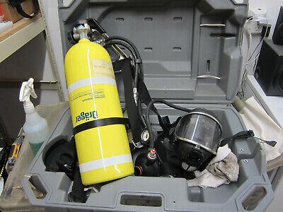 Drager Pa-80 Series Scba Bottle Harness Regulator Panorama Nova Mask Case Vg