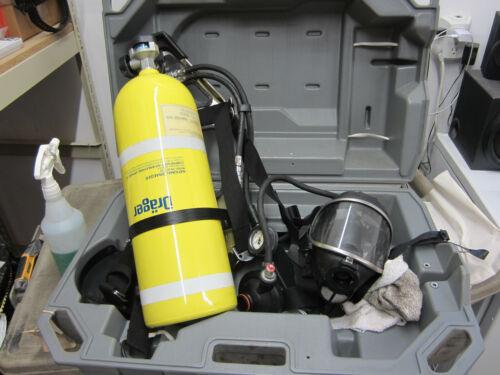 Drager PA-80 Series SCBA Bottle, Harness, Regulator, Panorama Nova Mask, Case VG