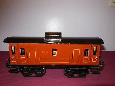 Marklin Baggage Coach 1936,1 Gauge,Hand Painted,Excellent Plus Condition
