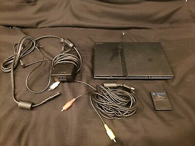 Sony PlayStation 2 Slim  Charcoal Black Console (untested!)