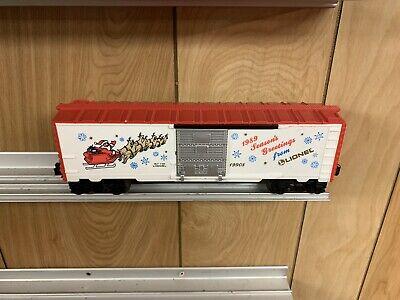 ✅LIONEL CHRISTMAS 1989 BOX CAR 6-19908! FOR O GAUGE TRAIN SET SANTA REINDEER