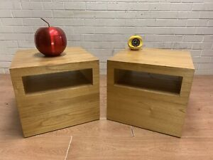 Matching pair modern solid TEAK bedside tables bedside cabinets Carlisle Victoria Park Area Preview