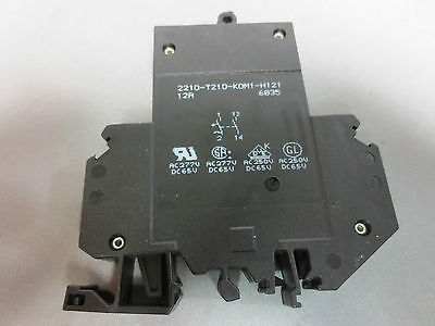 E-t-a 2210-t210-k0m1-h121 12a Circuit Breaker 12a 250vac 65vdc 1-pole - New