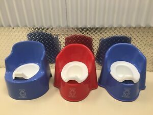 3 Baby Bjorn Training Potty Chairs Red and Blue Great Condition!