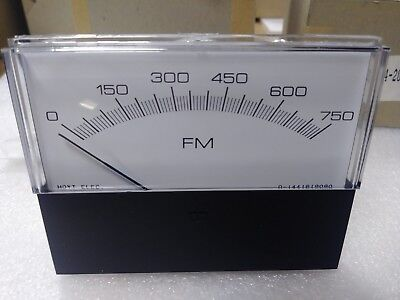Hoyt - 3135 Panel Meter  Input 4 - 20 Ma Dc  Scale 0 - 750 Fm - 3.5