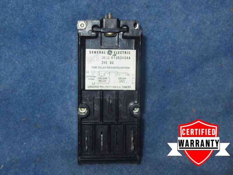 GENERAL ELECTRIC CR120KT00348AA RELAY / TIME DELAY UNIT 24VDC 1 YEAR WARRANTY