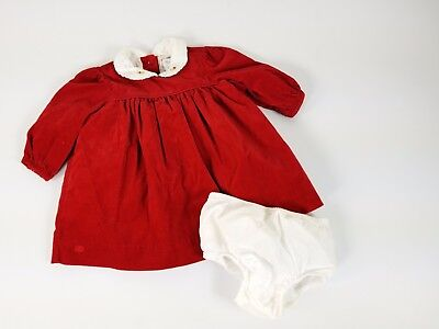 Ralph Lauren infant girl 6 months cordruroy red dress holiday bloomers Baby Girl Ralph Lauren Pants
