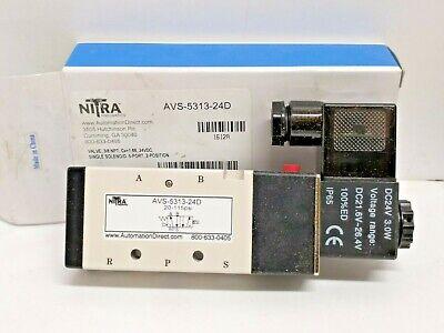 Nitra Avs-5313-24d Solenoid Valve24vdc 20-115 Psi 5 Port 2 Position 38 Npt