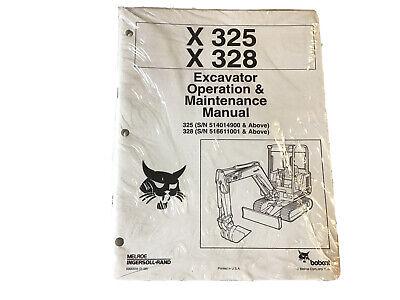 Bobcat X325 X328 Excavator Operation Maintenance Manual Stock 39aa