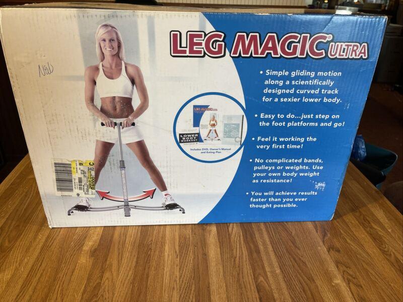 New Leg Magic Exerciser Fitness Leg Workout Thigh Glider Machine Open Box