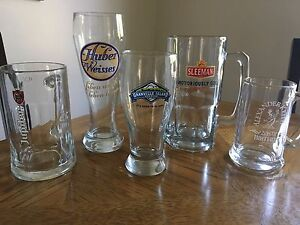 Collectors beer mugs and pint glasses