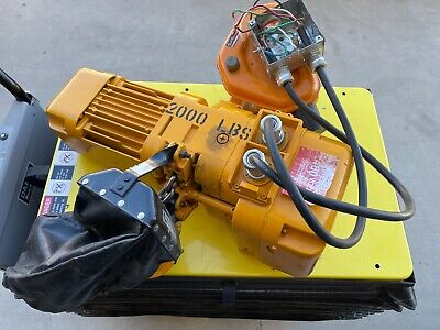 1 Ton Harrington Hoist Electric Chain Hoist Ibbq 2ph 208230 3ph 416460