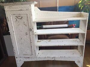 White Shabby chic bookcase/shelving