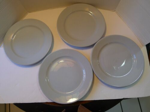 "Vintage Buffalo China Blue Lune 9-3/4"" Dinner Plates Set of 4"