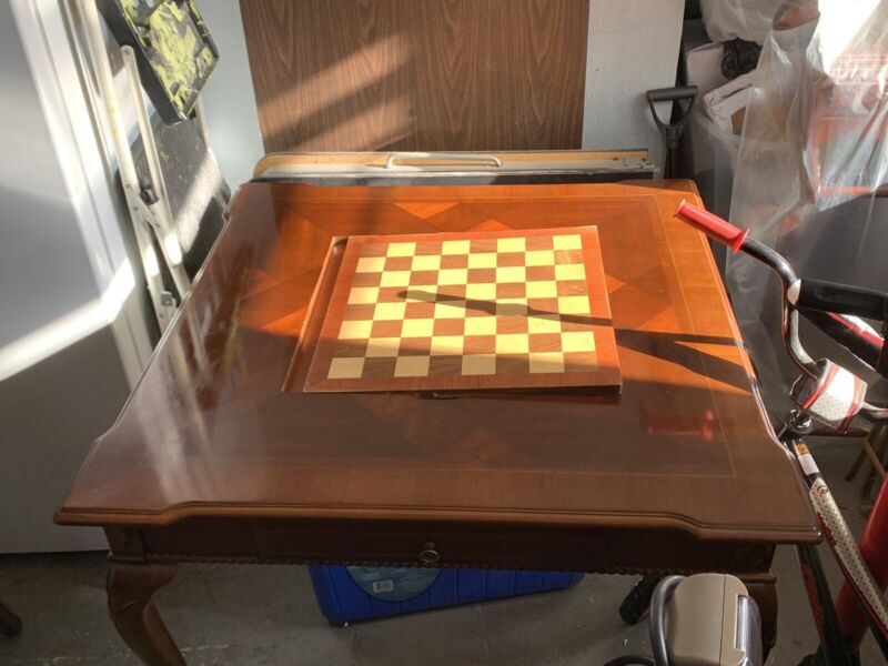 Antique Wood Tavern Game Table