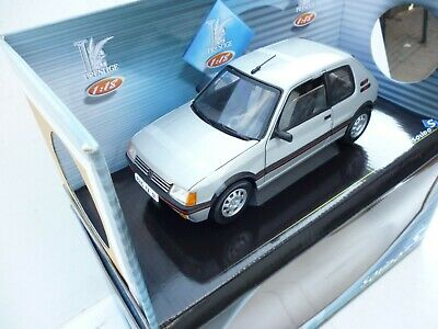 Solido 1/18 Scale Diecast 8153 Peugeot 205 GTi 1990 1.9 Silver Grey Brand