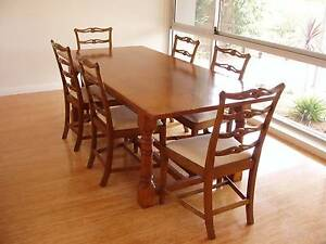 Oak dining table and chairs Seaforth Manly Area Preview