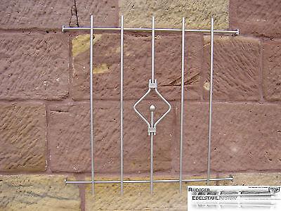 FGM-002 Edelstahl Fenstergitter Einbruchsicherung Sicherheit Gitter Schutzgitter