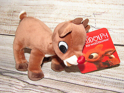 Rudolph The Red Nose Reindeer Plush Christmas Soft Toy Movie Stuffed Animal  - Red Nose Reindeer Plush