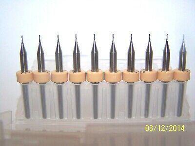 10 0.60mm .0236 2 Flute Micro Carbide Endmills Kyocera 1600.0236.079