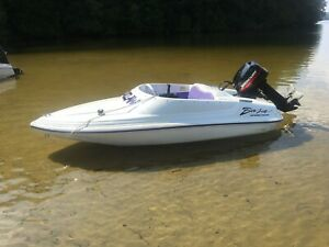 Mercury Mouse Boat with 9.9hp motor and newer trailer