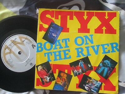 Styx - Boat On The River  A&M Records -  AMS 7512 UK 7inch Vinyl Single