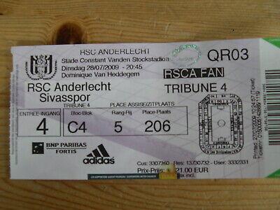 Ticket: Anderlecht - Sivasspor UEFA (28-7-09)