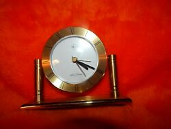 Seth Thomas  Brass Floating Dial Table Clock/Alarm Clock .