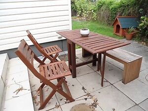 New timber outdoor dining set Elanora Heights Pittwater Area Preview