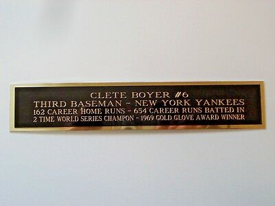 Clete Boyer Yankees Autograph Nameplate For A Signed Baseball Bat Case 1.5 X 8