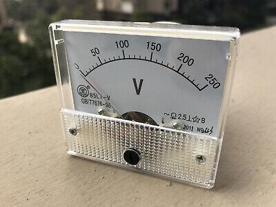 Us Stock 85l1 Ac 0 250v Analog Volt Voltage Panel Meter High Quality