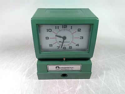 Acroprint 150qr4 Time Recorder Punch Clock Power Tested As-is For Parts