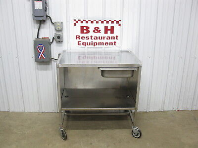 36 X 24 Stainless Steel Heavy Duty Mobile Table Cabinet W Drawer 3 X 2