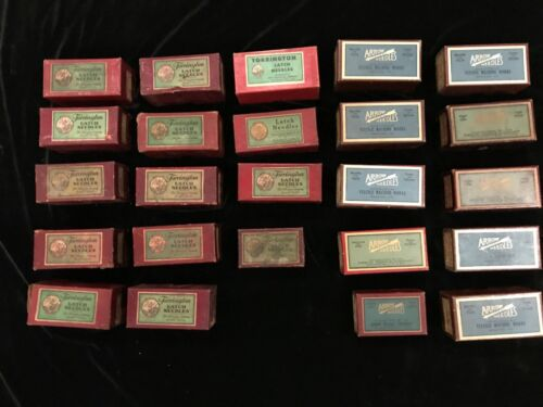 24 boxes LATCH NEEDLES Torrington and ARROW  23 lbs Sewing Machine Shop HOARD