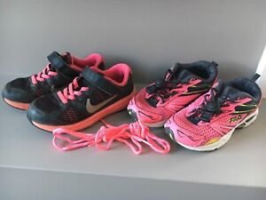 Two pairs of girls running shoes size 11