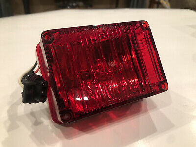 Tomar Rect-34swp-r 3x4 Red Strobe Light With Wp Connector