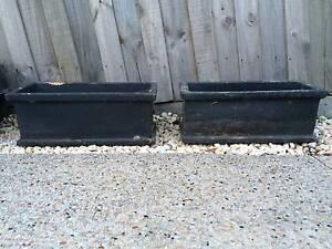 Pair (Two) Rectangular Planter Pots Bentleigh East Glen Eira Area Preview