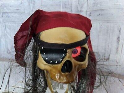 Gemmy pirate talking skull animated sound lights hanging