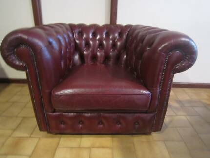 Chesterfield Tub Chairs with matching foot stools