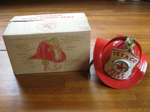 Texaco Fire Chief Hat Helmet Original Box