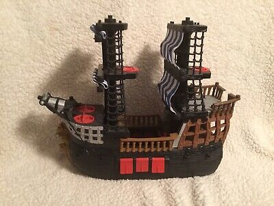Fisher Price Imaginext Black Pirate Ship Kohls Exclusive Blue Sails