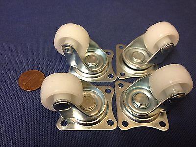 4x Robot Caster Gimbal Wheel Steering Wheel Car Tire Model Robotic Part Diy C4