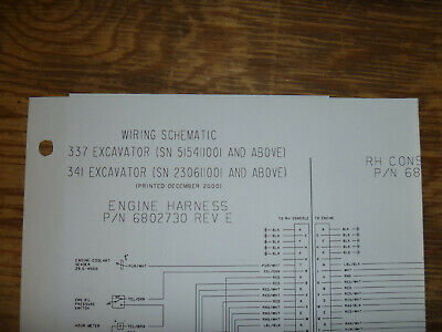 Bobcat 337 341 Excavator Electrical Wiring Diagram Schematic Manual