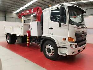 2019 Hino GH 1828 LONGAuto Air Crane Tipper H01665 Breakwater Geelong City Preview