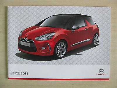 Citroen DS3 UK Sales Brochure (2010)