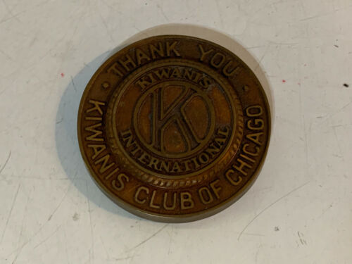 Vintage Kiwanis Club Chicago Kiwanis International Advertising Paperweight