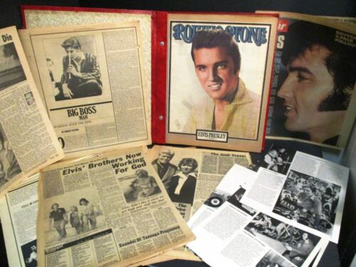ELVIS PRESLEY SCRAPBOOK ~ GREAT FAN TRIBUTE w/ articles-photos + ~ BEAUTIFUL!