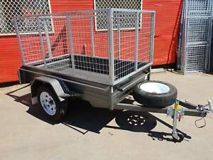 7x4 Heavy Duty Box Trailer with 900mm Cage Fyshwick South Canberra Preview