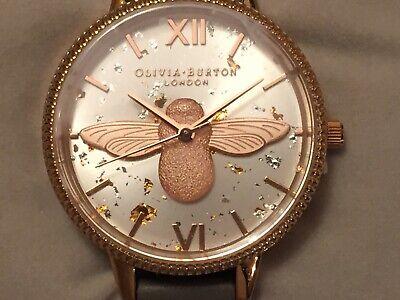 Brand New w/Tags Olivia Burton Ladies Celestial 3D Bee Demi Dial Watch OB16GD06