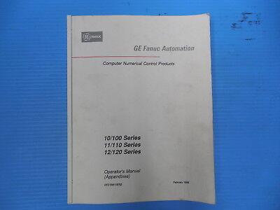 Ge Fanuc Automation Cnc Machine Operators Manual Appendixes Programming Codes